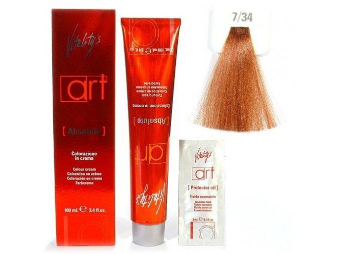 VITALITYS Art Absolute Barva na vlasy s leskem - tabáková blond 7-34