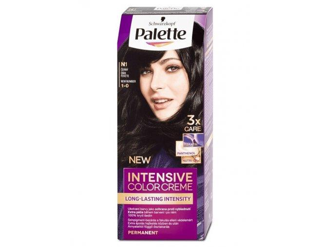 SCHWARZKOPF Palette N1 (1-0) Intensive Color Creme - barva na vlasy - Černá