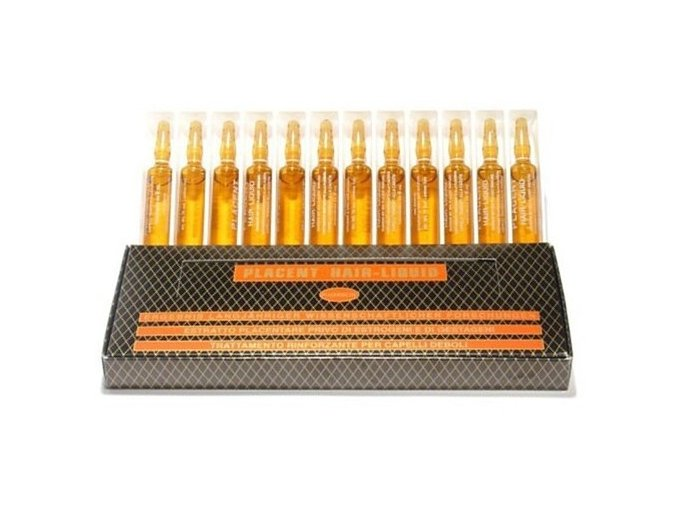 MIL MIL Elidor Placent Hair Liquid - placentové ampule pro intenzivní regeneraci 12x6ml