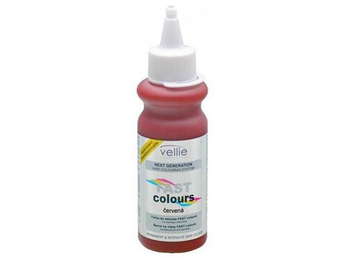 VELLIE Červená Fast Colours gelová barva na vlasy - až na 6 umytí - červená