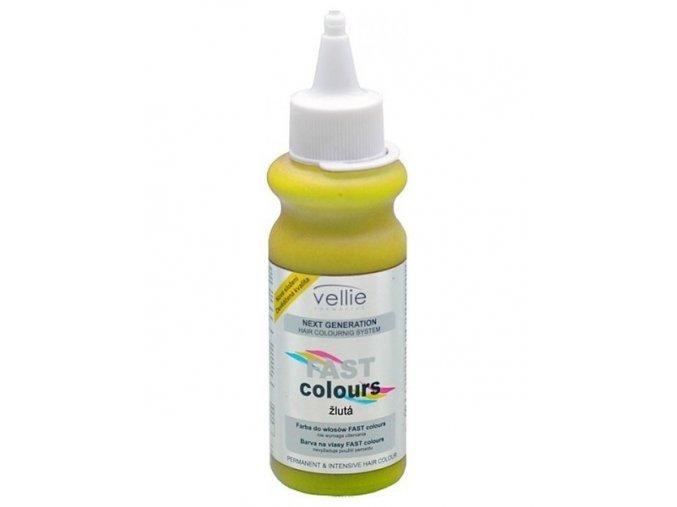 VELLIE Žlutá Fast Colours gelová vymývatelná barva Yellow - žlutá