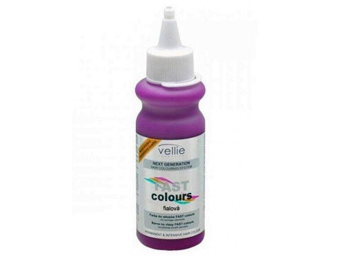 VELLIE Fialová Fast Colours gelová barva na vlasy smývatelná - fialová