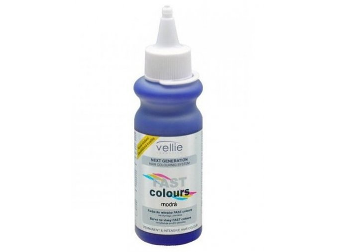 VELLIE Modrá Fast Colours gelová barva na vlasy smývatelná - modrá