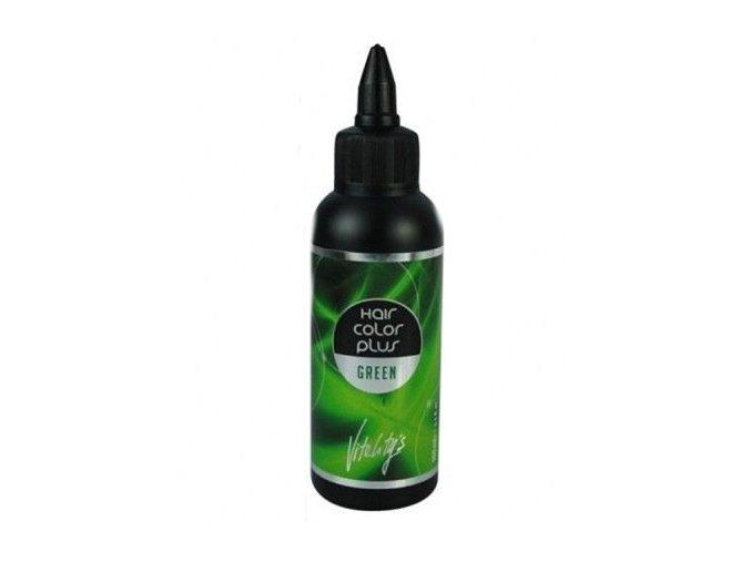 VITALITYS HCP Hair Color Plus gelová barva na vlasy vymývatelná Green 02 - zelená