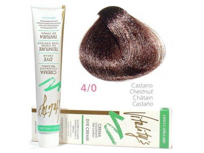 VITALITYS Green Permanentní krémová barva na vlasy - Hnědá 4-0
