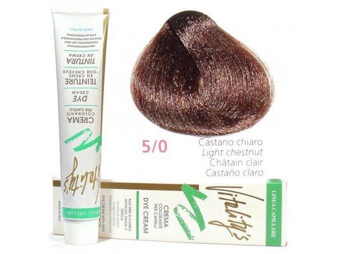 VITALITYS Green Permanentní krémová barva na vlasy - Světle hnědá 5-0