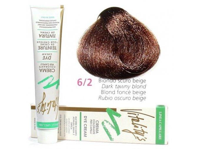 VITALITYS Green Krémová barva na vlasy - Tmavě béžová blond 6-2