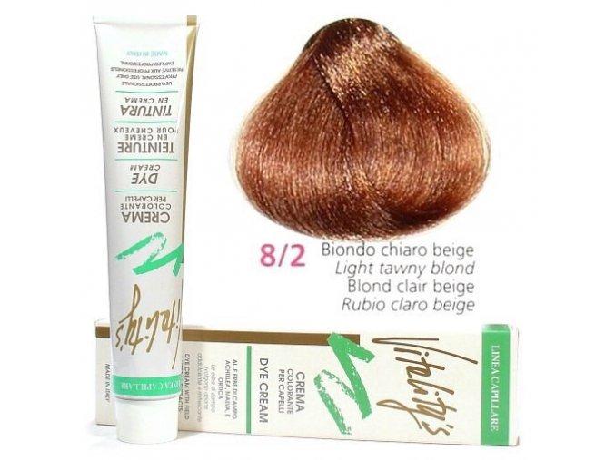 VITALITYS Green Permanentní krémová barva - Světle béžová blond 8-2