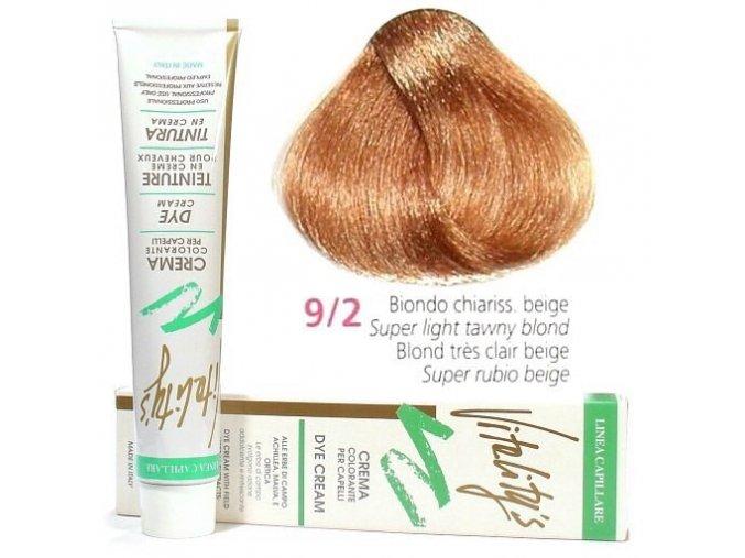 VITALITYS Green Permanentní krémová barva - Nejsvětlejší béžový blond 9-2