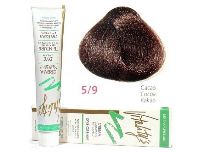 VITALITYS Green Permanentní krémová barva na vlasy - Cacao kakaová 5-9