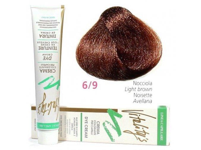 VITALITYS Green Krémová barva na vlasy - Nocciola lískový oříšek 6-9