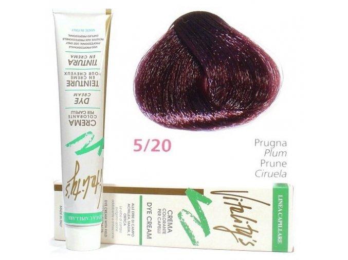 VITALITYS Green Permanentní krémová barva na vlasy - Švestka 5-20