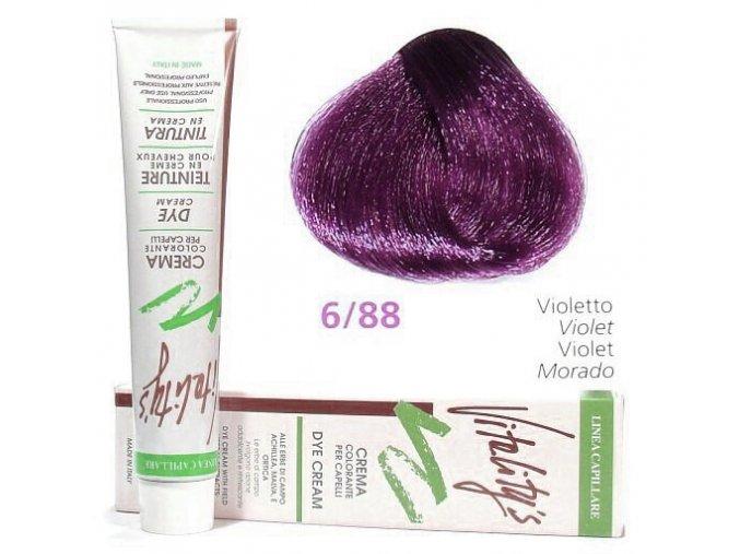 VITALITYS Green Permanentní krémová barva na vlasy - Fialová violet 6-88