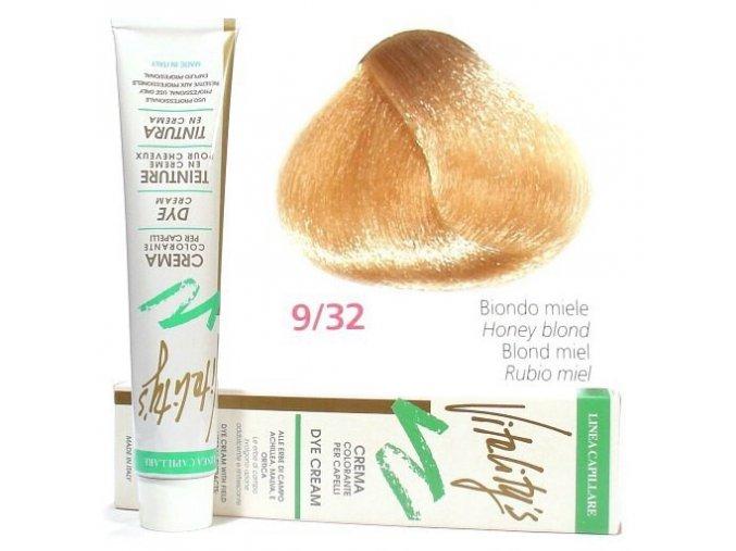 VITALITYS Green Permanentní barva na vlasy- Nejsvětlejší medová 9-32