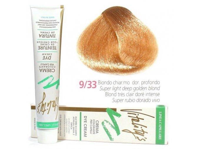 VITALITYS Green Barva na vlasy - Intenzivní nejsvětlejší zlatá blond 9-33
