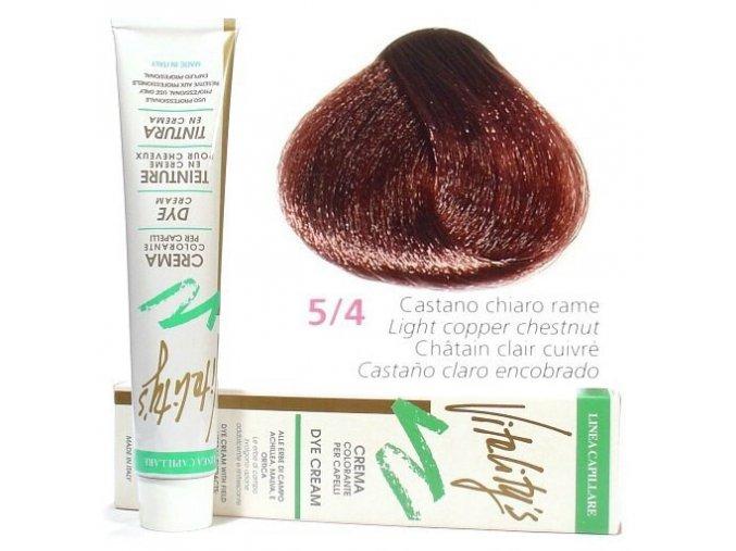 VITALITYS Green Permanentní barva na vlasy - Světle hnědá měděná 5-4