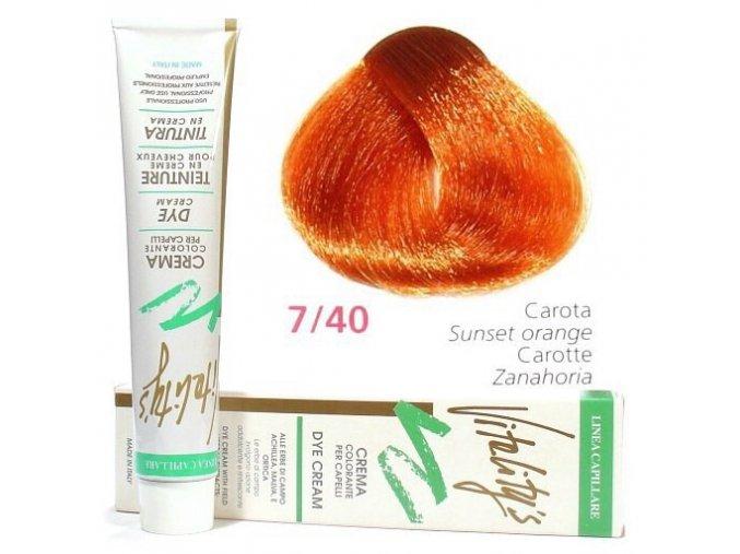 VITALITYS Green Permanentní krémová barva na vlasy - Karotka 7-40