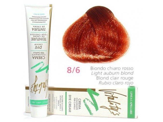 VITALITYS Green Permanentní barva na vlasy - Světle červená blond 8-6