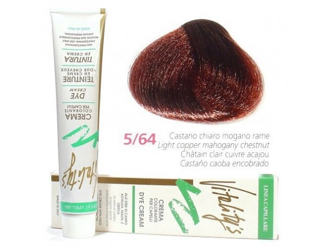 VITALITYS Green Barva na vlasy - Měděná mahagonově hnědá 5-64