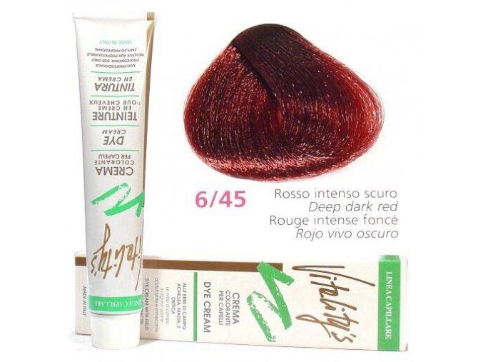 VITALITYS Green Barva na vlasy - Tmavě červený intenzivní 6-45