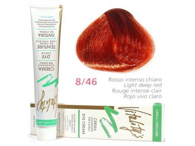 VITALITYS Green Krémová barva na vlasy - Světle červená intenzivní 8-46