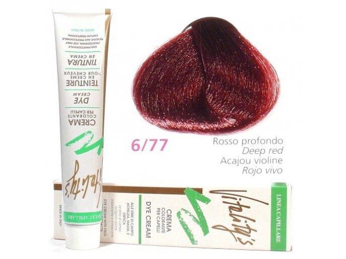 VITALITYS Green Permanentní barva na vlasy - Intenzivní červená 6-77