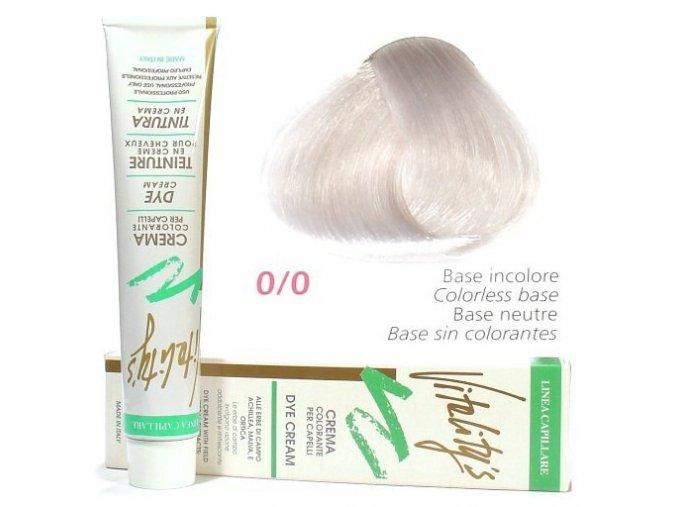 VITALITYS Green Permanentní krémová barva na vlasy - Bezbarvá fáze 0-0
