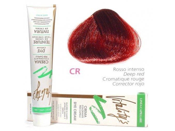 VITALITYS Green Krémová barva na vlasy - Červený intenzivní korektor CR