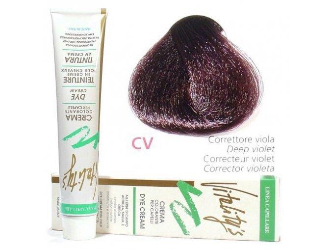 VITALITYS Green Permanentní barva na vlasy - Fialový intenzivní korektor CV