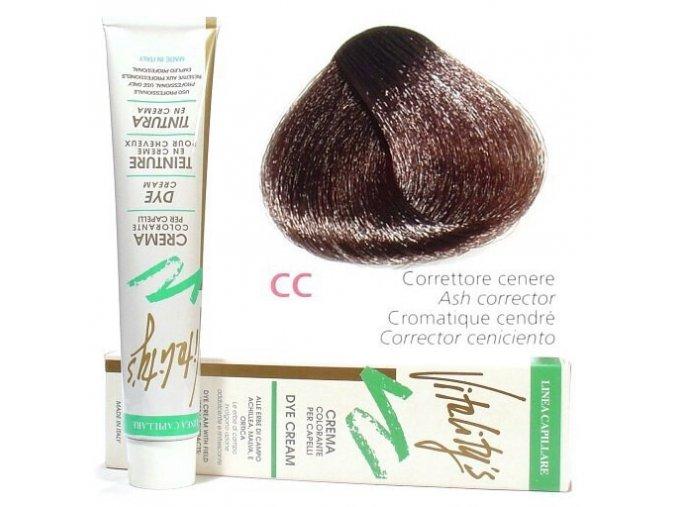 VITALITYS Green Permanentní krémová barva na vlasy - Popelavý korektor CC