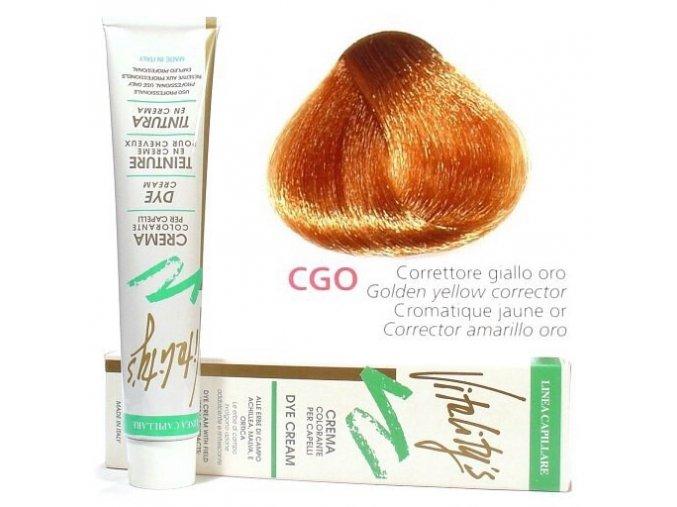 VITALITYS Green Permanentní krémová barva na vlasy - Zlatě žlutý korektor CGO