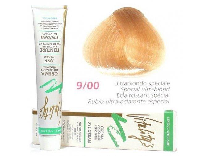 VITALITYS Green Permanentní krémová barva na vlasy - Ultra blond specialní 9-00