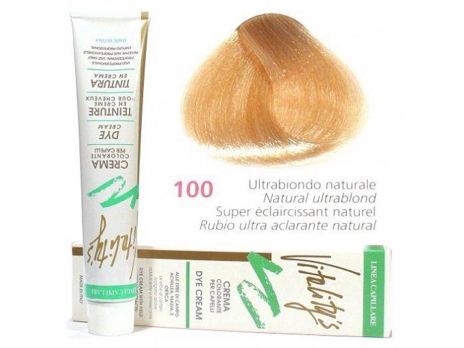 VITALITYS Green Permanentní krémová barva na vlasy - Ultra blond přírodní 100