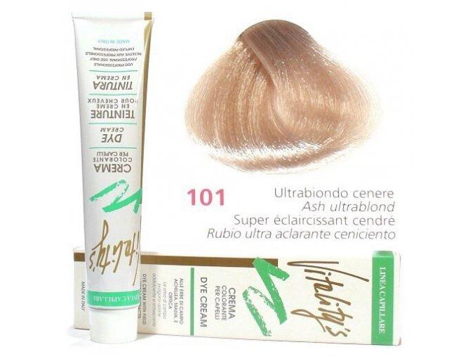 VITALITYS Green Permanentní krémová barva na vlasy - Ultra blond popelavá 101