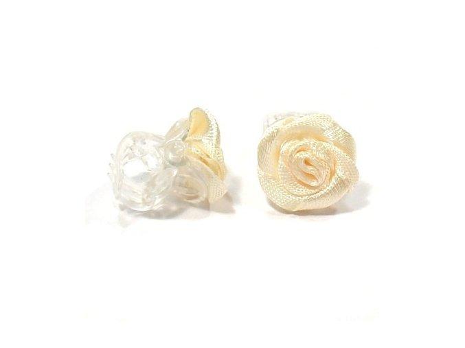 Vlasové doplňky Skřipeček s růžičkou 1ks - béžový