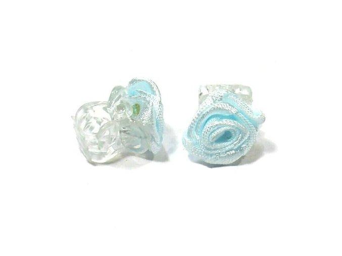 Ozdoby do vlasů Skřipeček s růžičkou 1ks - modrý