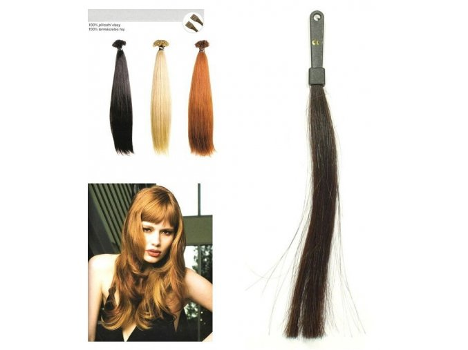 SO.CAP. Rovné vlasy Přírodní odstín 8001LC 35-40cm - tmavě hnědá 2