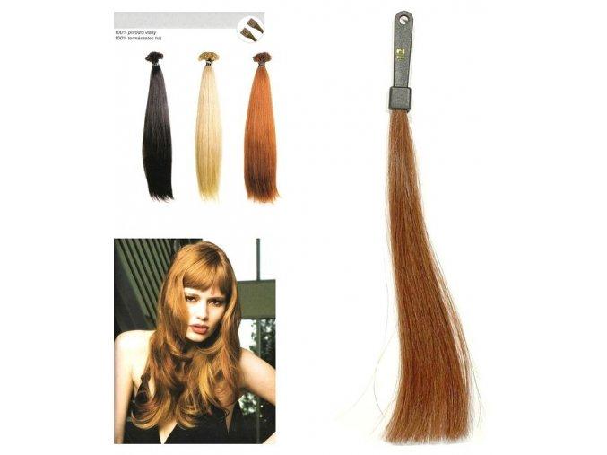SO.CAP. Rovné vlasy Přírodní odstín 8001LC 35-40cm - střední blond 12