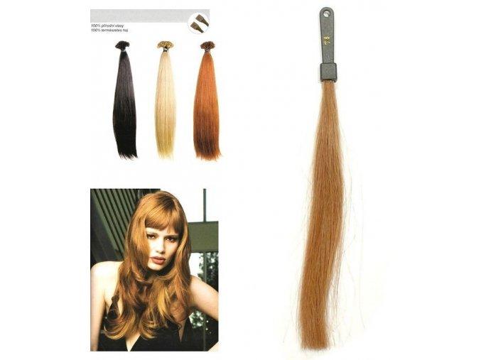SO.CAP. Rovné vlasy Přírodní odstín 8001LC 35-40cm - tmavě zlatá blond 14