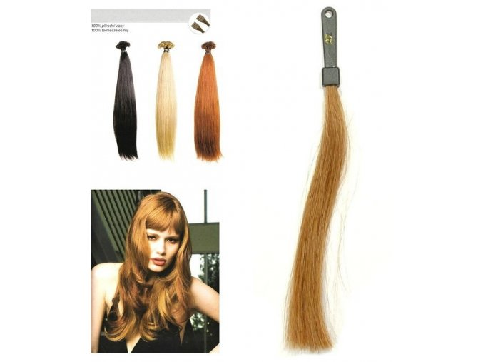 SO.CAP. Rovné vlasy Přírodní odstín 8001LC 35-40cm - střední zlatá blond 27