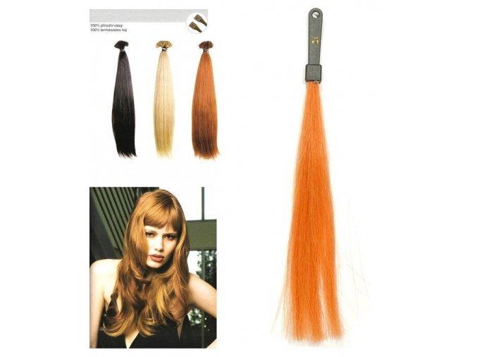 SO.CAP. Rovné vlasy Přírodní odstín 8001LC 35-40cm - intensiv měděná blond 21