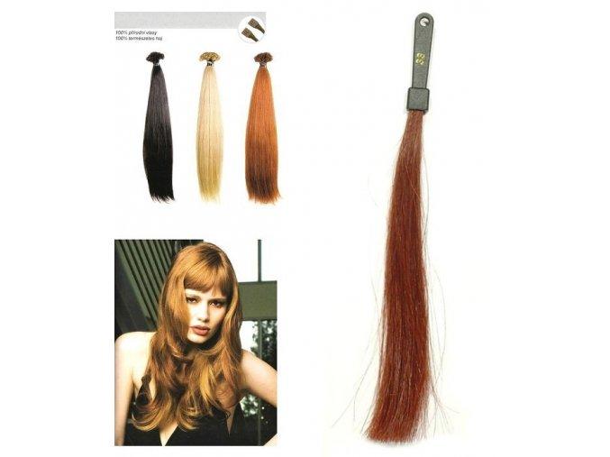 SO.CAP. Rovné vlasy Přírodní odstín 8001LC 35-40cm - tmavě mahagonová 33