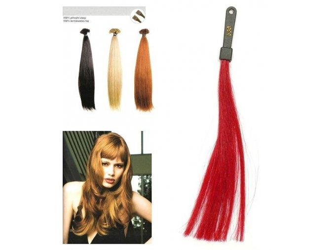 SO.CAP. Rovné vlasy Přírodní odstín 8001LC 35-40cm - rubínově intenziv červená 530