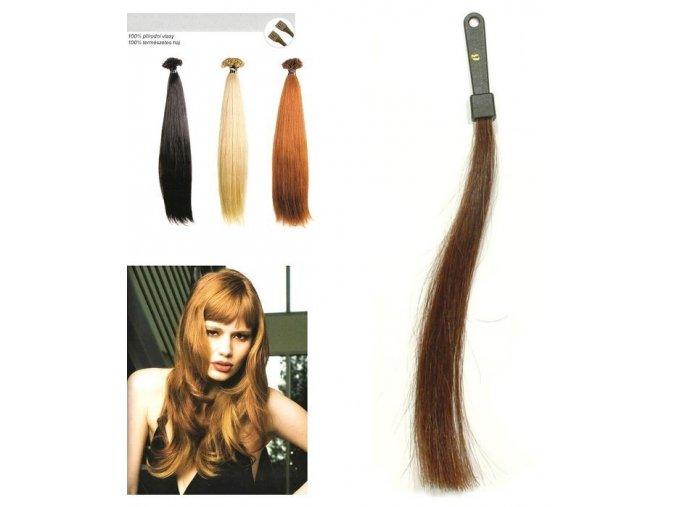 SO.CAP. Rovné vlasy Přírodní odstín 8000L 50-55cm - středně hnědá 6