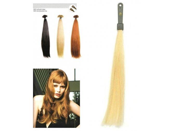 SO.CAP. Rovné vlasy Přírodní odstín 8000L 50-55cm - světlá blond 20
