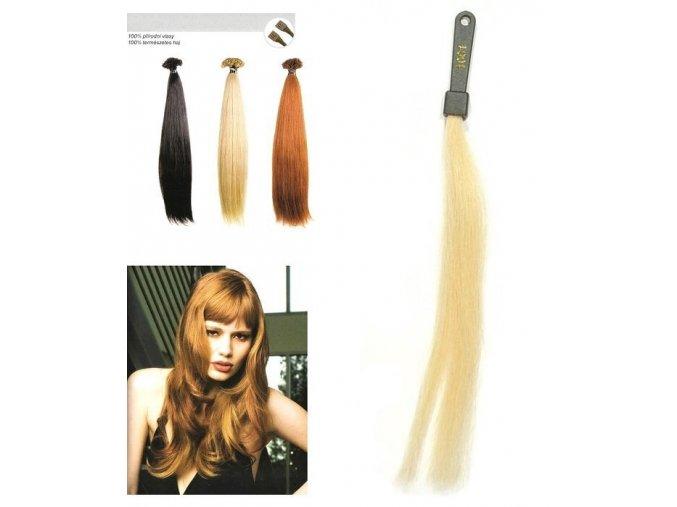 SO.CAP. Rovné vlasy Přírodní odstín 8000L 50-55cm - platinová blond 1001