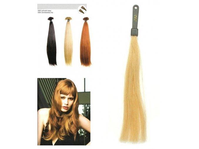 SO.CAP. Rovné vlasy Přírodní odstín 8000L  na prodlužování vlasů 50-55cm - blond DB3