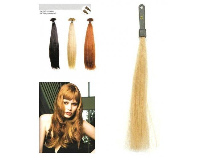 SO.CAP. Rovné vlasy Přírodní odstín 8000L 50-55cm - super blond 24