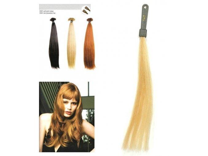 SO.CAP. Rovné vlasy Přírodní odstín 8000L 50-55cm - zlatá velmi světlá blond 140