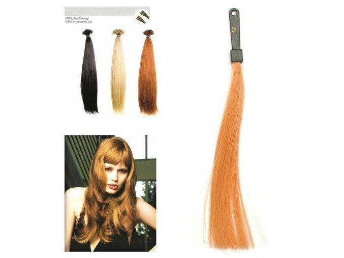 SO.CAP. Rovné vlasy Přírodní odstín 8000L 50-55cm - světlá měděná blond 29